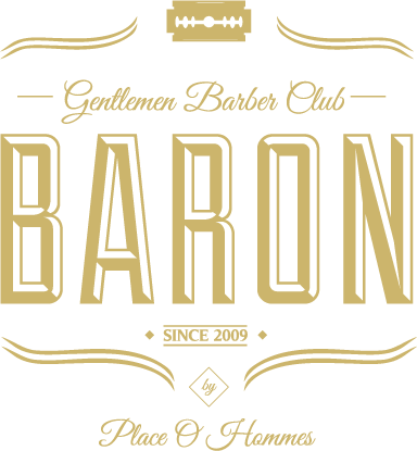 Baron - Barbier et coiffeur à Liège - Logo: Gentlemen Barber Club - Baron - Since 2009 - By Place O Hommes